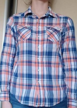 Брендовая рубашка в клетку lee. оригинал