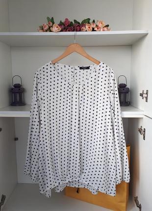 Блузка с вискозы в горох george
