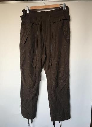 Свободные легкие штаны брюки на завязке chloe оригинал шелк вискоза