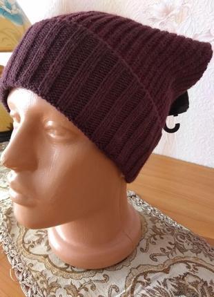 Качественная шапка унисекс accessoires, р. 55-59, германия