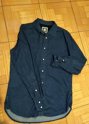 Фірмова стильна джинсова рубашка, р. м