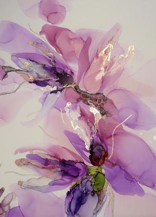 Картина, гілочка з квітами