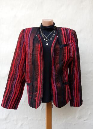 Винтаж абалденный шолковый разноцветный жакет на молнии csar,бархат,пиджак.