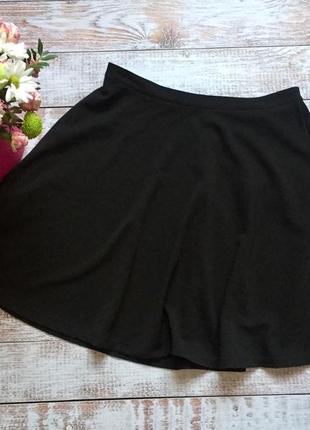 Чорная юбка солнце от pep&co