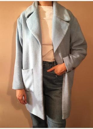Голубое пальто missguided