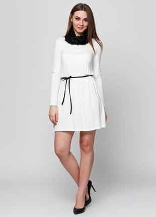 Молочное повседневное платье а-стиль lipsy