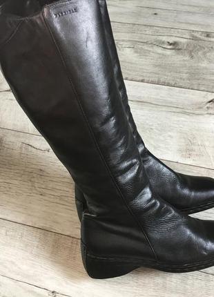 Утепленные сапоги женские bata натур.кожа 24.5см
