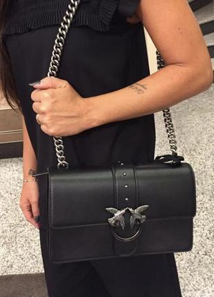 Стильная кожаная сумка pinko lova bag