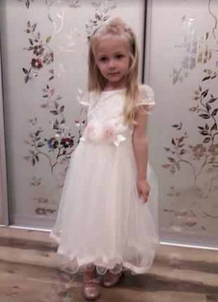 Нарядное, бальное платье для девочки с обручем.