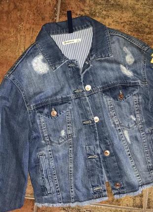 Джинсовая куртка ,короткая
