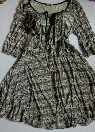 Платье миди 54 52 размер офисное футляр осеннее нарядное с рукавом бюстье
