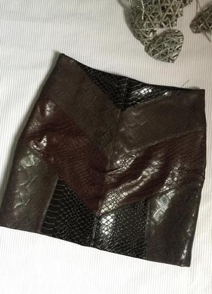 Крутая юбка кожа