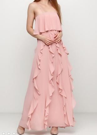 Платье бюстье h&m с воланами