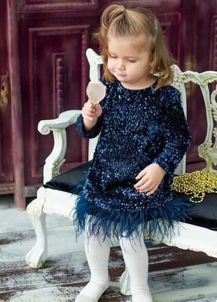Шикарное нарядное бархатное платье для принцесс!
