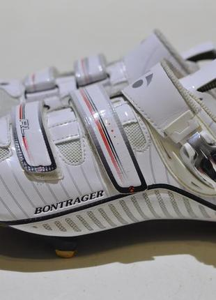 Велотуфли шоссе, велообувь bontrager rl road white silver series