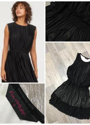 Чёрное вечернее плиссированное платье