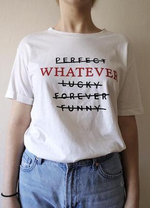 Белая футболка lcw young с надписью