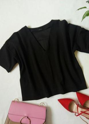 Черная блуза оверсайз, кимоно