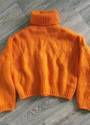 Новый теплый свитер оверсайз оранжевого цвета