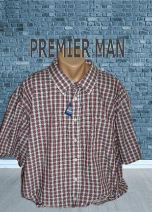 🍀🍀premier man летняя мужская рубашка супер большой размер 4 xl оригинал 🍀🍀🍀