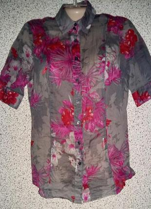 Летняя женская рубашка батист от бренда marc aurel .германия