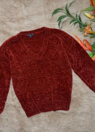 Объемный велюровый свитер f&f p l-xl
