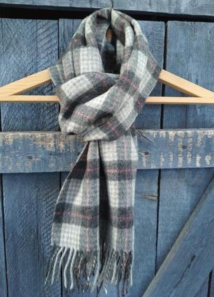 Luxuary! итальянский шарф в клетку дорогого бренда bulgari 100% шерсть