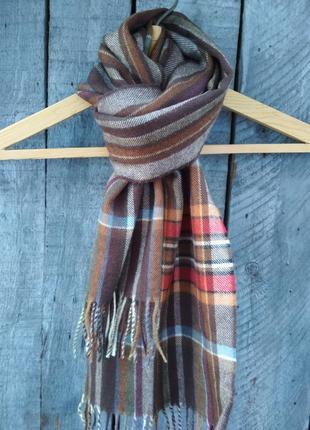 Шерстяной шарф в клетку alessandra marani