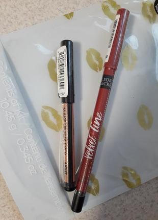 Крутой набор контурных карандашей для губ victoria's secret глаз make up for ever
