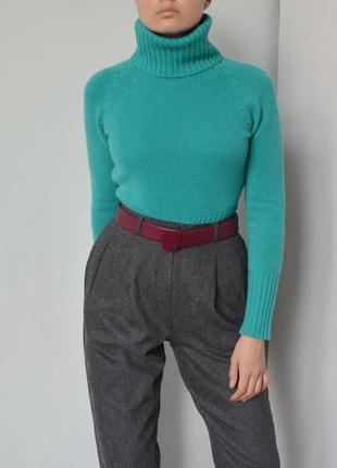 Кашемировый гольф свитер бирюзового цвета ann taylor из 100% кашемира