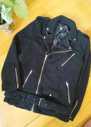 Трендовая тедди куртка косуха boohoo