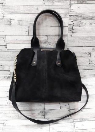 Женская сумка замшевая