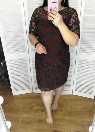 Красивое гипюровое платье, р. 18.