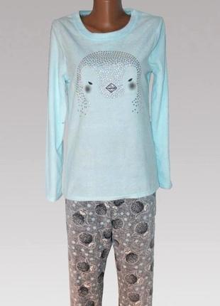 Женская флисовая пижама пингвин primark love to lounge