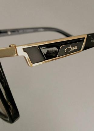 Cazal очки женские солнцезащитные коричневые с бежевым линзами