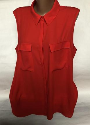Красная блуза большого размера