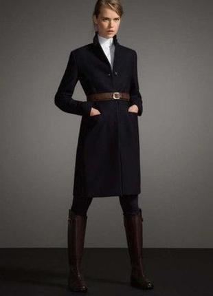 Шерстяное пальто прямого кроя в мужском стиле