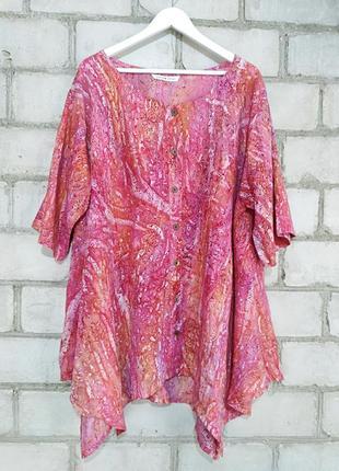 Красивая ассиметричная блуза на пышные формы супер пог 77 поб 115