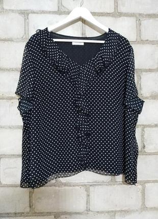Блуза в сердечки с рюшиками пог 70+    windsmoor