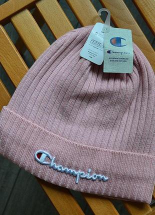 Шикарные мужские шапки champion pink универсальная акрил