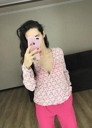 Блуза на запах цветочный принт nile оригинал