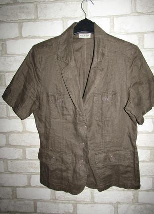 Натуральный пиджак р-р 12-38 лён canda