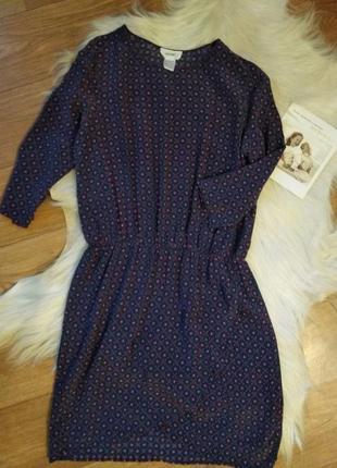 Платье шелковое фирменное короткое