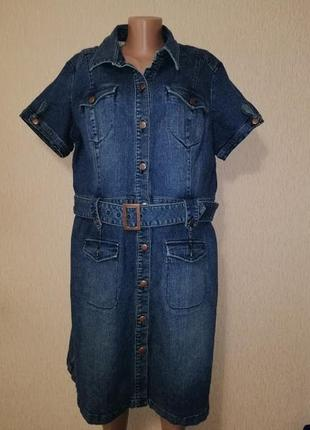 🔥🔥🔥красивое, стильное женское джинсовое платье, сарафан 20 р. south denim🔥🔥🔥