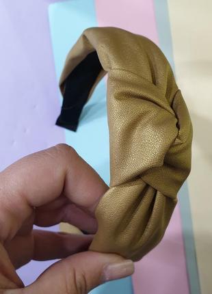 Ободок обруч чалма кож зам золото