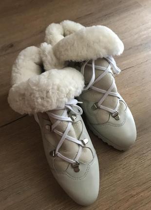 Черевики ботинки кожа 37 зима