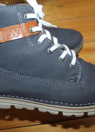 40 разм. ботинки weinbrenner. кожа. супер легкие