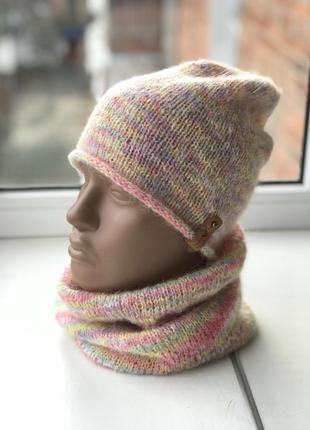 Вязаная шапка - бини