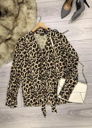 Кофта блуза леопардовая трендовый принт