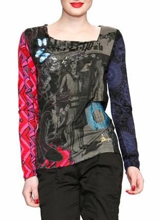 Лонгслив, футболка с длинным рукавом desigual, р.м-л
